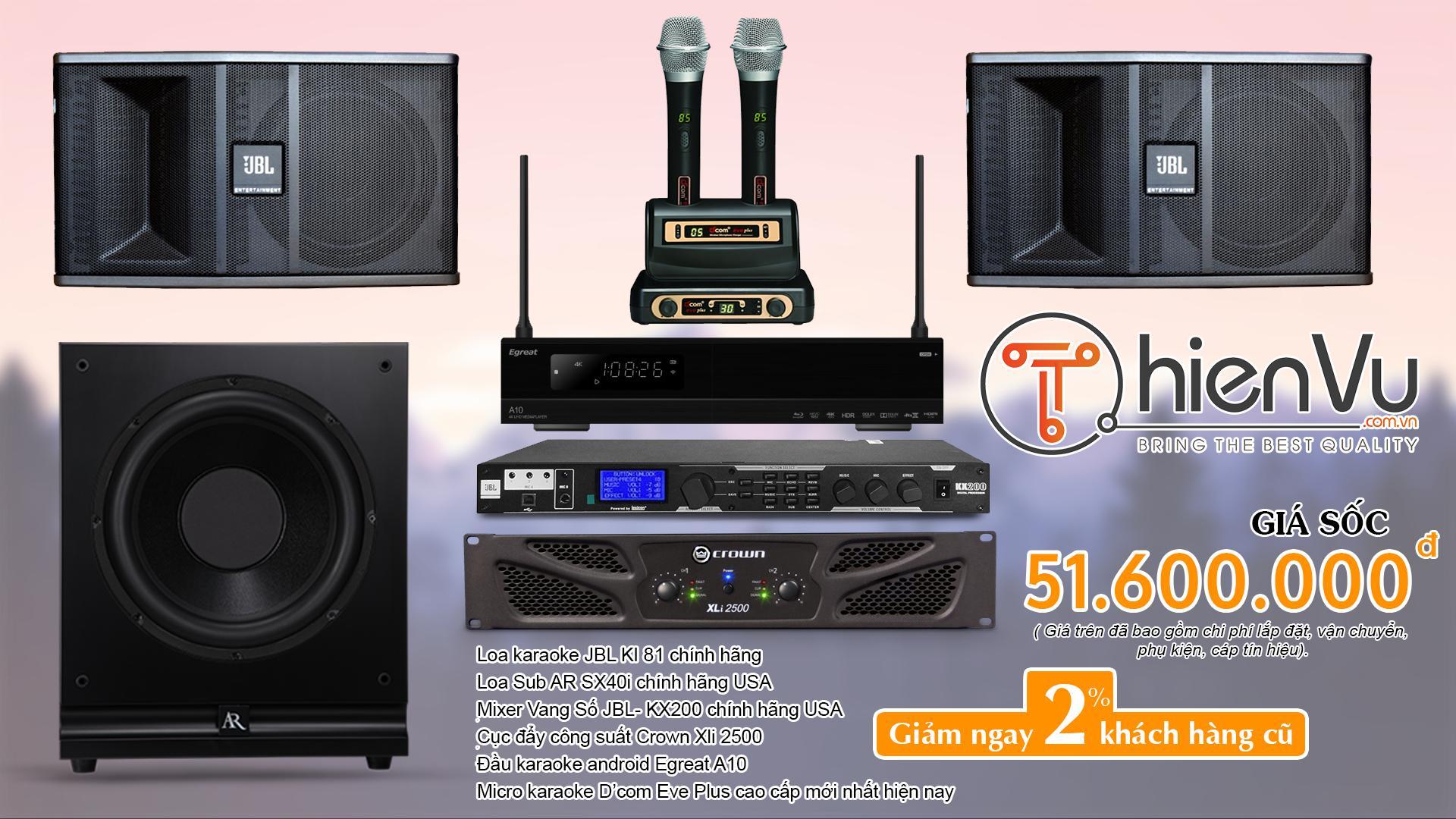 bộ karaoke gia đình chuyên nghiệp TVAP 06