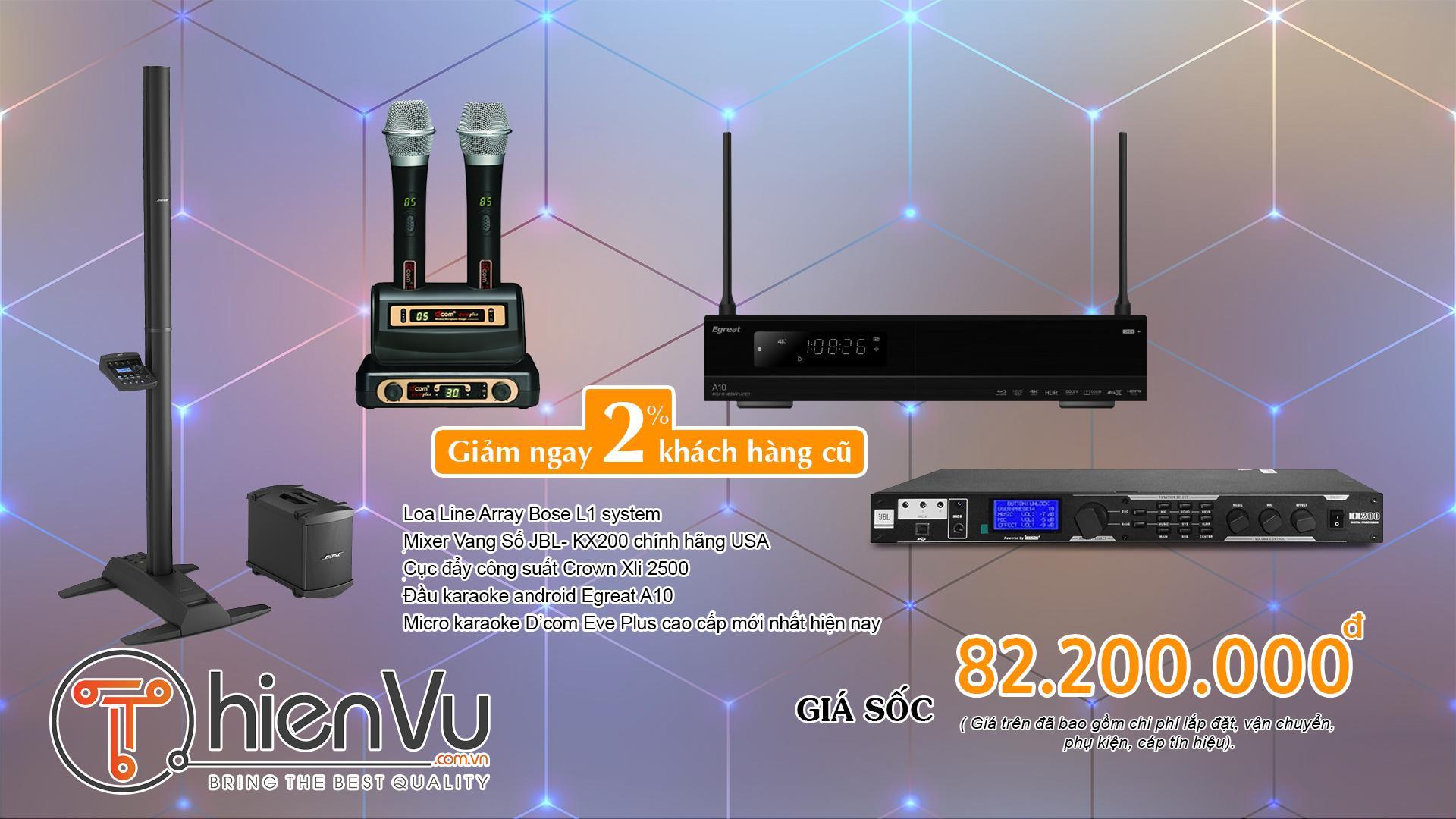 Chi tiết dàn karaoke cao cấp với hệ thống loa Bose 80 triệu đồng TVAP 09