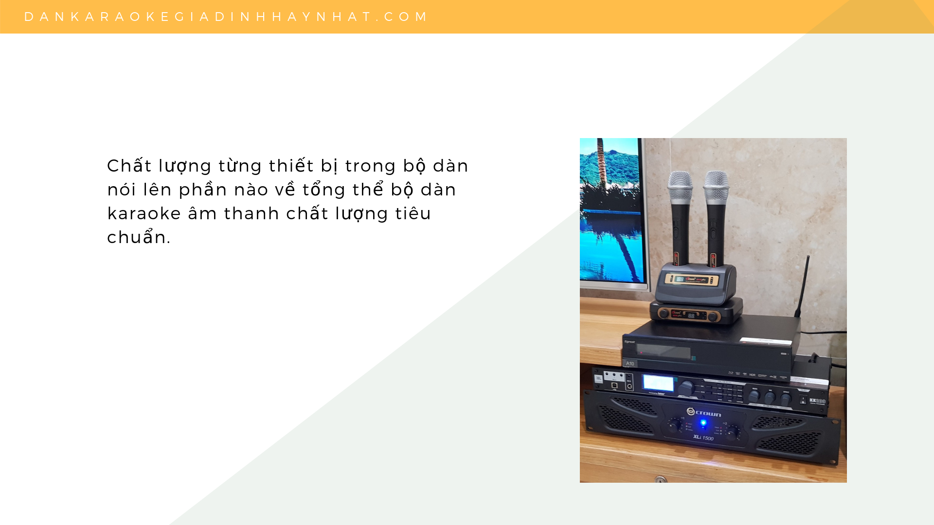 chọn thiết bị karaoke chất lượng thế nào