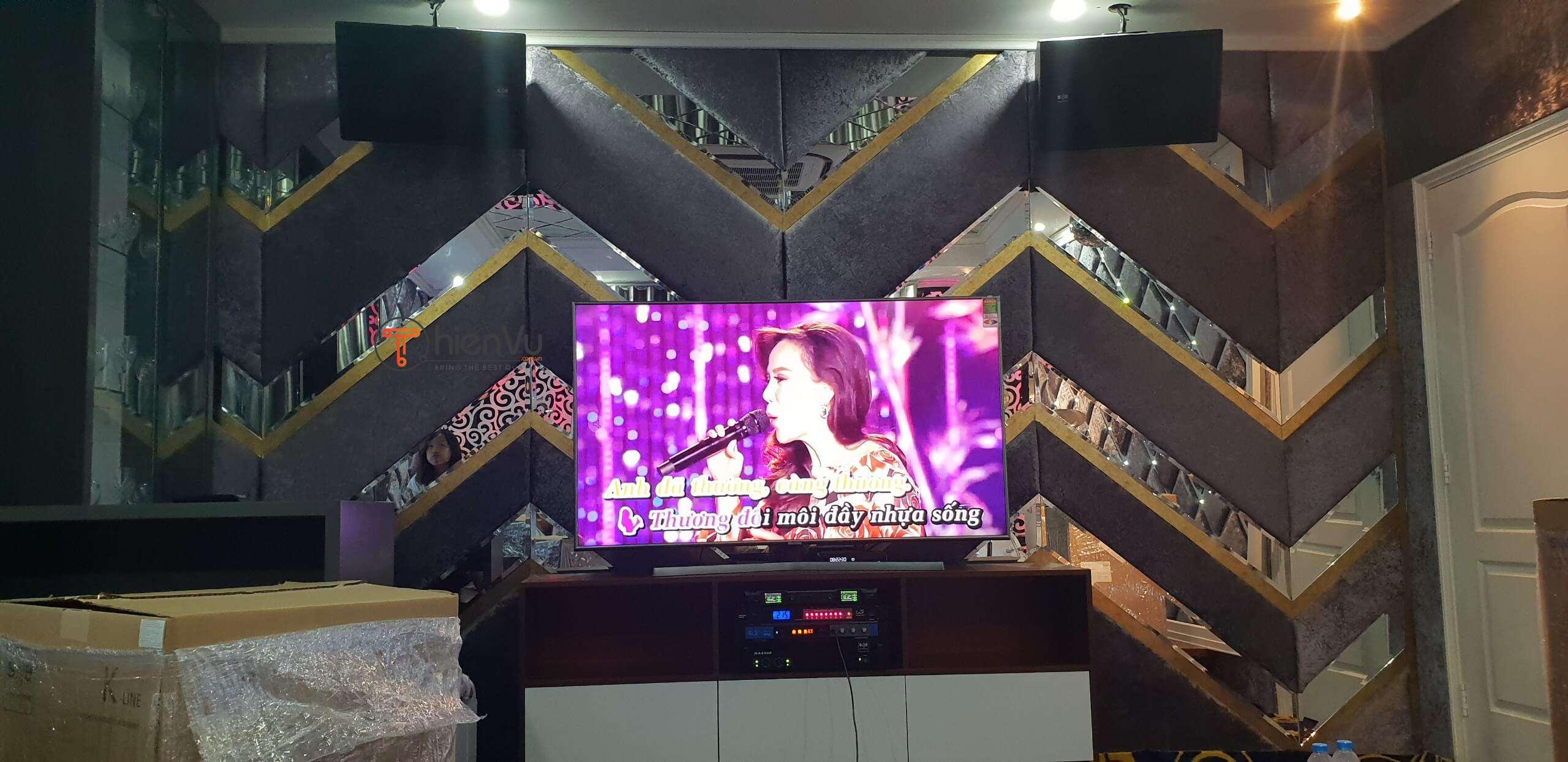 Công đoạn hoàn thành dàn karaoke TVAP 20