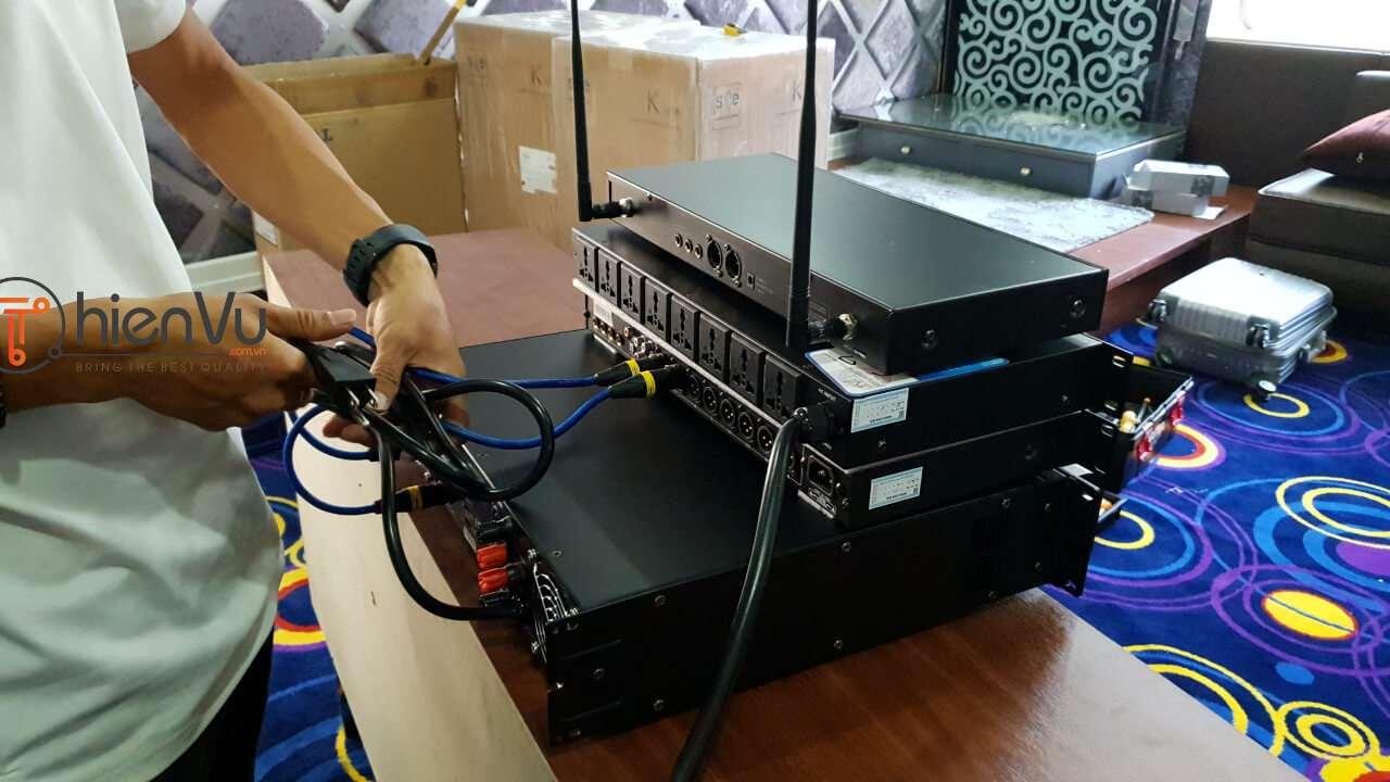Kết nối dây tín hiệu dàn karaoke TVAP 20