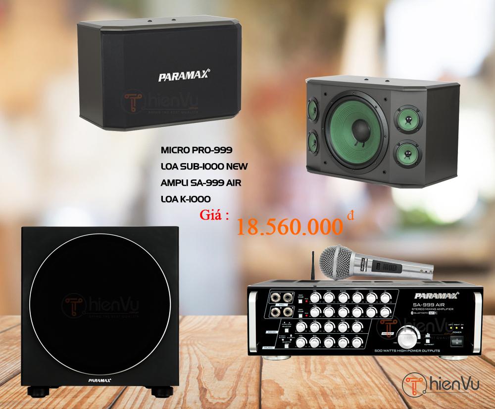 dàn âm thanh Paramax 18 triệu