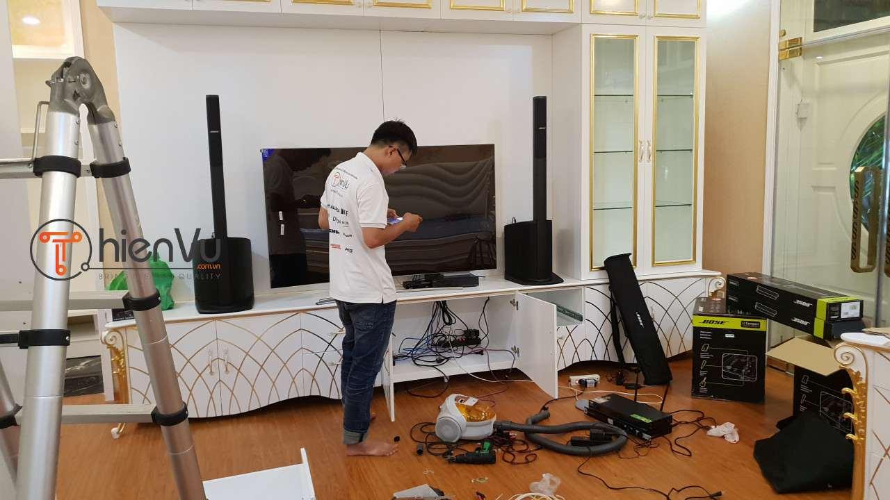Quá trình thi công bộ dàn karaoke TVAP 21